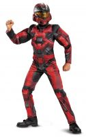 Kids Halo Spartan 1 Keystone Red Classic Muscle Costume