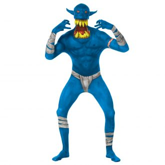 Jaw Dropper Orc Morphsuit – Blauw