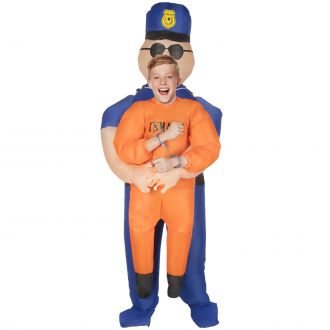 Kids Police Pick Me Up Inflatable Costume
